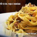 Taste of Italia: Tagliatele cu ton, ceapa si smantana [*non-vegetarian]