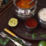Taste of India: curry de ardei servit cu orez basmati [*lacto-vegetarian]