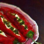 Retete vegetariene cu stil: ardei kapia cu ricotta si vinegreta cu marar