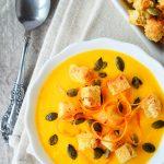 Supa crema de morcovi cu mascarpone si portocala