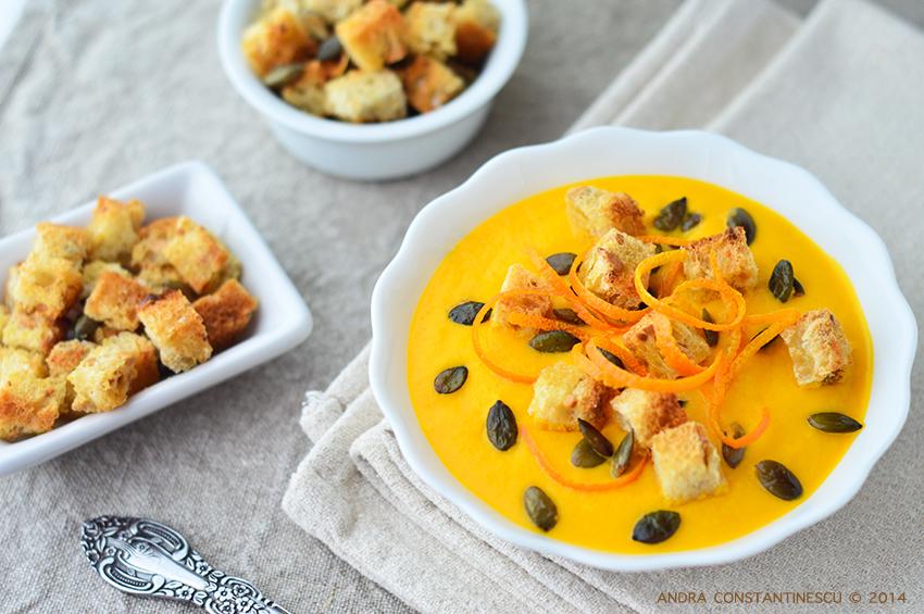 reteta supa crema de morcovi cu portocale si mascarpone