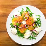 Portocale rosii, mozarella & rucola